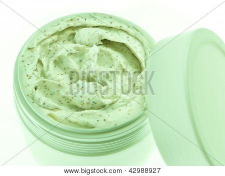 body scrub isolated on white background