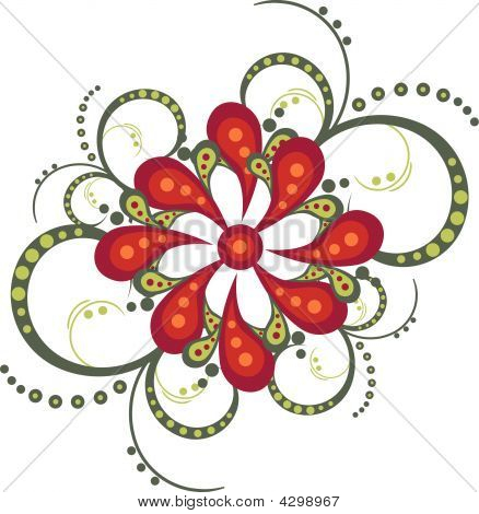 Flower Decorative Vector Ornament