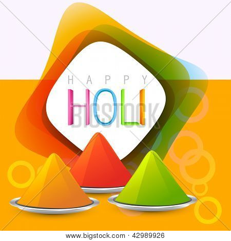 colorful holi festival gulal background