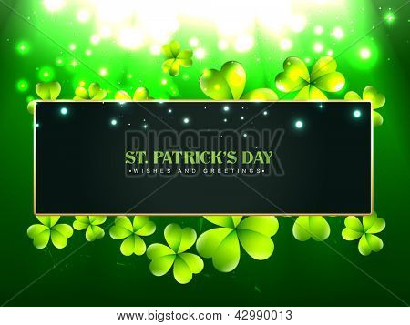 beautiful vector saint patrick's day design with space for your text
