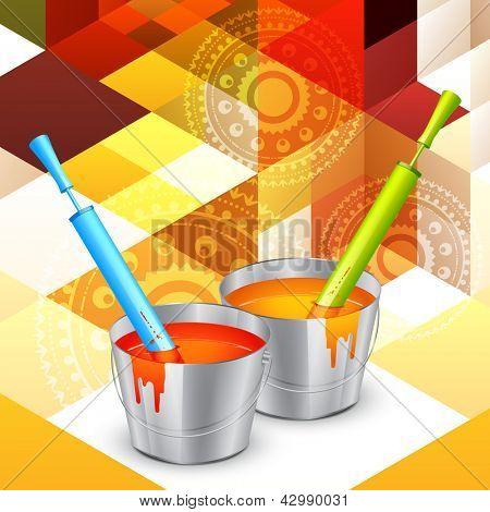 colorful holi colors with pichkari
