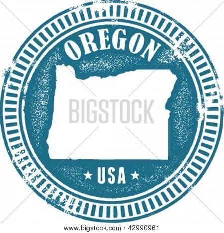 Oregon USA State Stamp