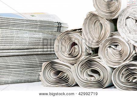Newspapers Closeup