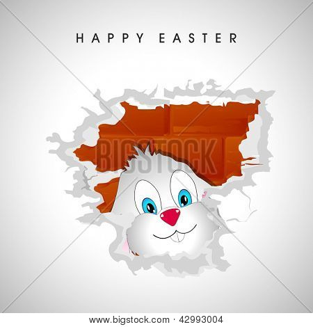 Happy Easter background with bunny.