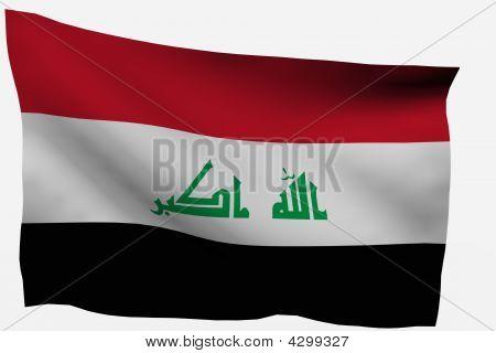 Irak 3D Fahne