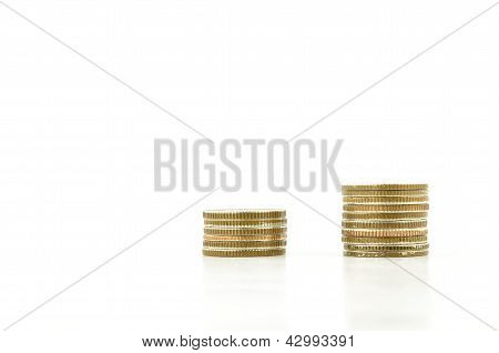 Coin Symbol Graph Isolated On White Background