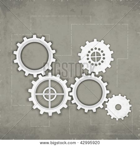 Abstract business background with cog wheel. EPS 10.