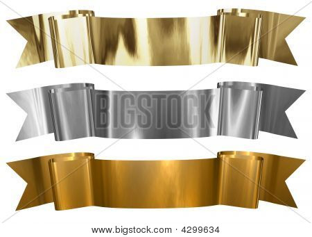 Antique Metallic Banners