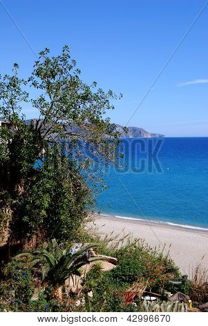 Burriana beach, Nerja, Andalusia, Spain.