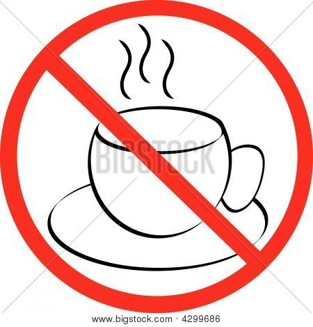 Coffee Mug With Not Allowed Symbol.