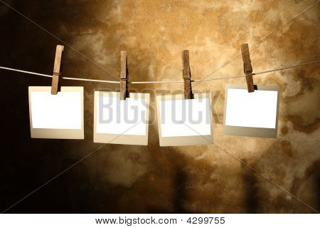 Photo Held By Clothespins