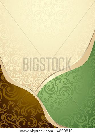 Abstract Seamless pattern or background green  and brown
