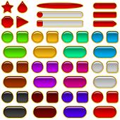 foto of octagon shape  - Set of glass buttons - JPG