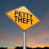 foto of shoplifting  - Illustration depicting a sign with a petty theft concept - JPG
