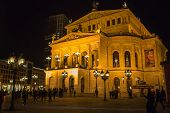Frankfurt - Mar 2: Alte Oper At Night On March 2, 2013 In Frankfurt, Germany.