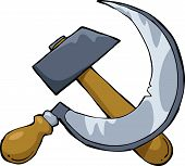picture of hammer sickle  - Hammer and sickle on a white background vector illustration - JPG