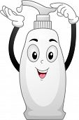 Illustration of a Bottle of Lotion Mascot