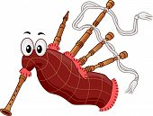 image of bagpipes  - Illustration of a Bagpipe Mascot - JPG