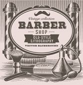 Vintage barber shop background