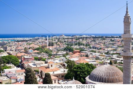 Panoramic View Of Rhodes Old Town