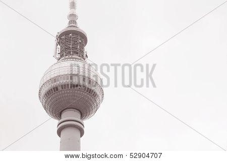 Fernsehturm Television Tower In Alexanderplatz, Berlin