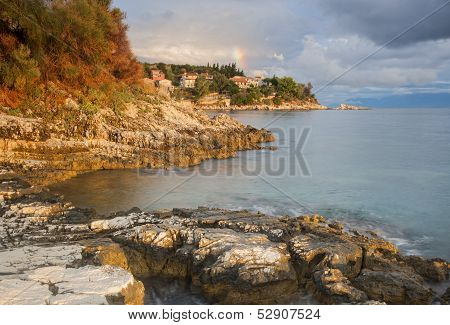kassiopi headland in corfu greece