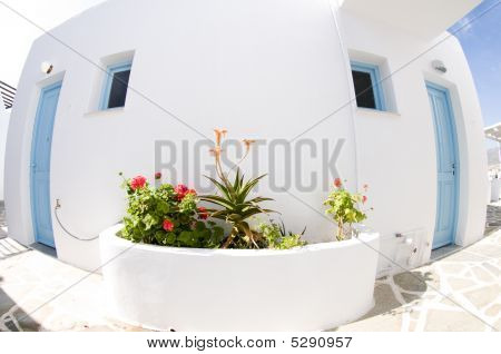 Greek Island Typical Architecture Paros Island
