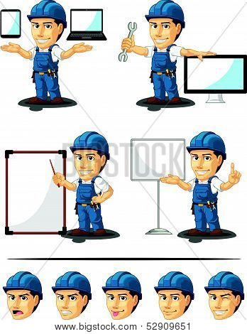 Technician Or Repairman Mascot 16