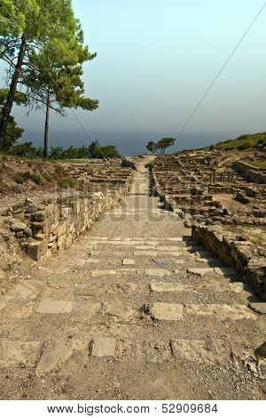 Ancient city of Kamiros in Rhodes, Greece.