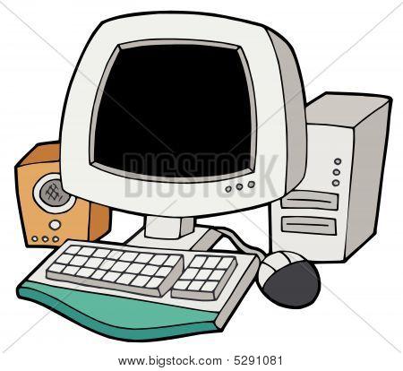 Desenhos animados computador