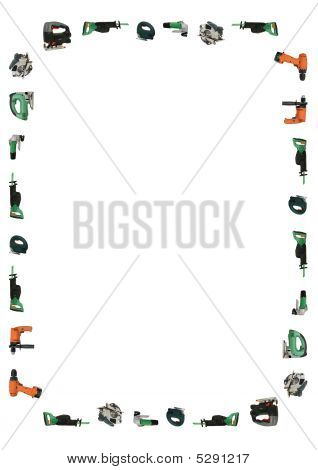 Power Tools Set With Clipping Path