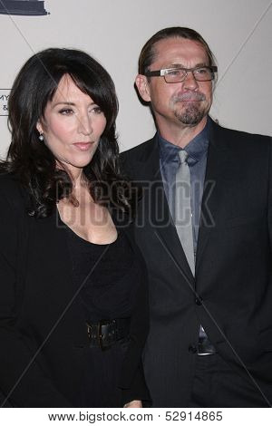 """LOS ANGELES - OCT 25:  Katey Sagal, Kurt Sutter at the An Evening with """"Sons of Anarchy"""" at Leonard H. Goldenson Theater at the Television Academy on October 25, 2013 in North Hollywood, CA"""