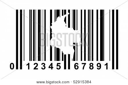 Colombia shopping bar code isolated on white background.