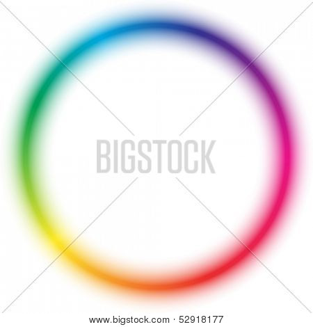 Radial rainbow pattern