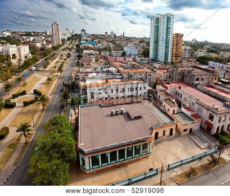 Cuba. Old Havana. Top view. Prospectus of presidents