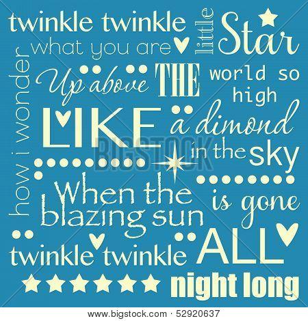 Twinkle Twinkle Little Star Word Art