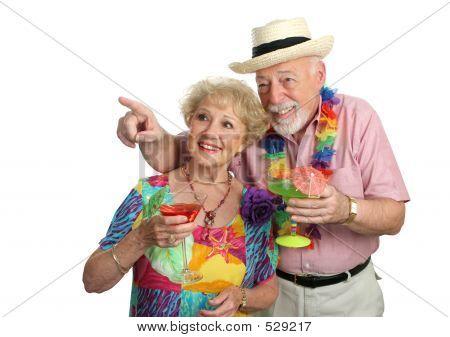 Älteres Paar Sightseeing