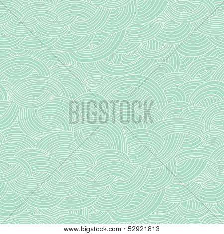 Seamless abstract hand-drawn pattern, waves background. Seamless pattern can be used for wallpaper, pattern fills, web page background,surface textures. Gorgeous seamless floral background