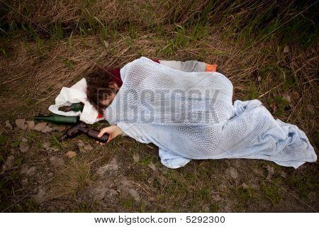 Drunk Homeless Man