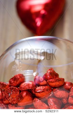 Valentine Hearts - Candy And Baloon