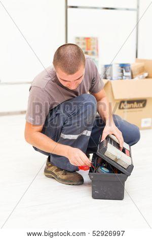 Handyman With Tool Box