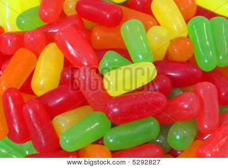 Colorful Jelly Beans Close Up