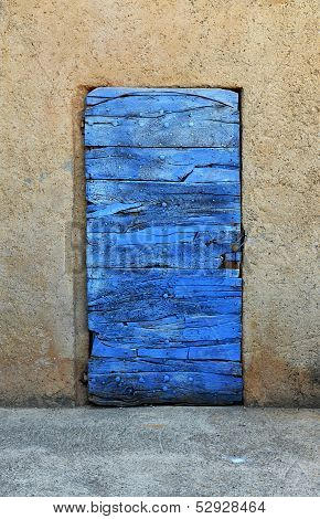 Wooden Blue Door