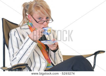 Businesswoman, Coffee Break