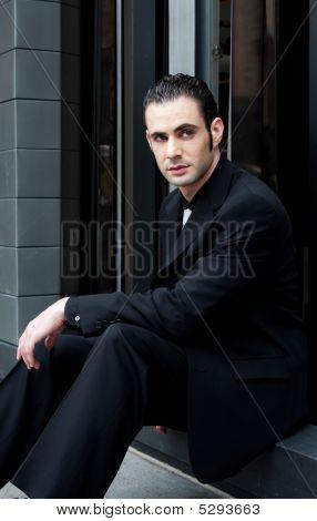 Business Man Sitting