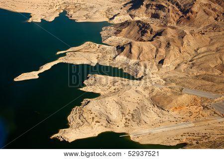 Lake Mead Aerial View, America, Arizona and Nevada
