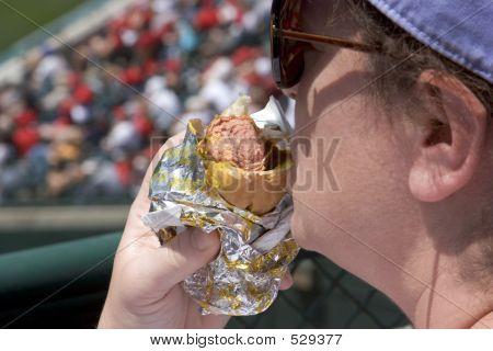 Hotdog-Frau