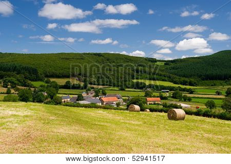 French landscape in the France Bourgogne