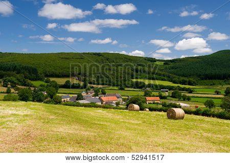 French landscape in the France Bourgogne