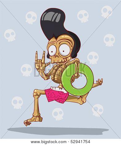 Death is a skeleton. Happy Halloween
